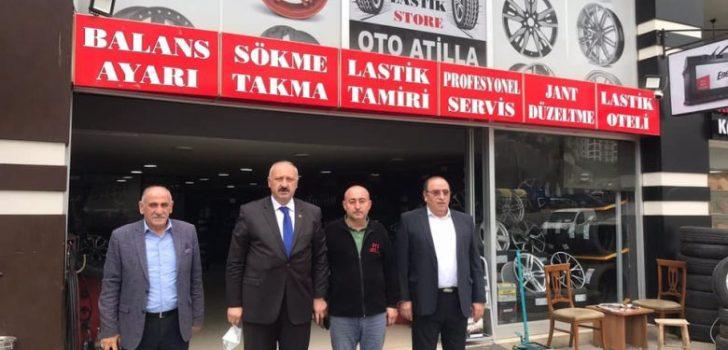 Başkan Çebi'den Araklılı Esnaflardan Atilla Çil'e Ziyaret