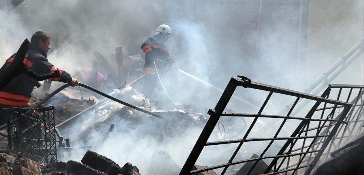 Trabzon'da yangın