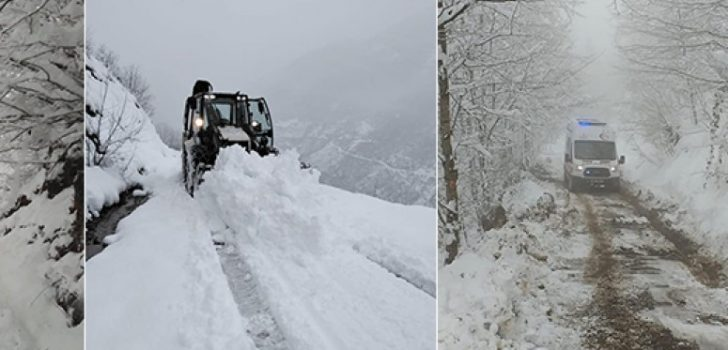Araklı'da Karla Mücadele Çalışmaları Devam Ediyor