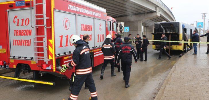 Trabzon'da otobüs yangını