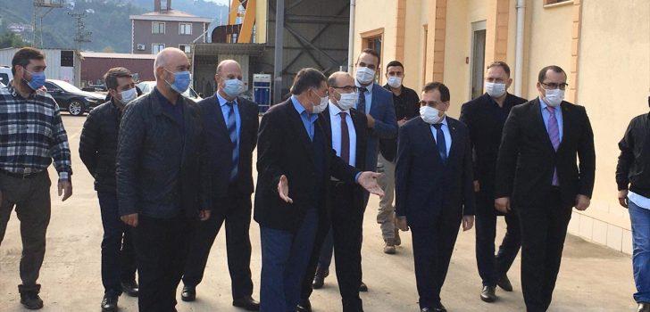 Trabzon Valisi Ustaoğlu'ndan Çamburnu Tersanesine ziyaret