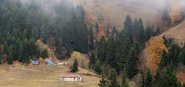 Tarihi İpek Yolu'nda sonbahar güzelliği