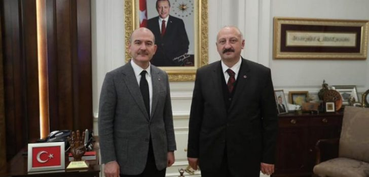 Başkan Çebi İçişleri Bakanı Sn. Süleyman Soylu ile Görüştü