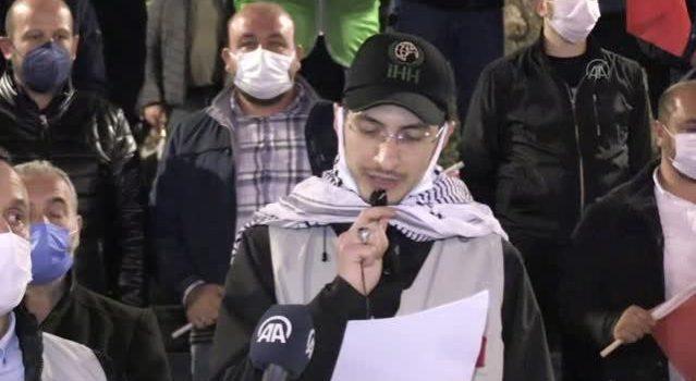 İsrail polisinin Mescid-i Aksa'da cemaate saldırması Trabzon'da protesto edildi