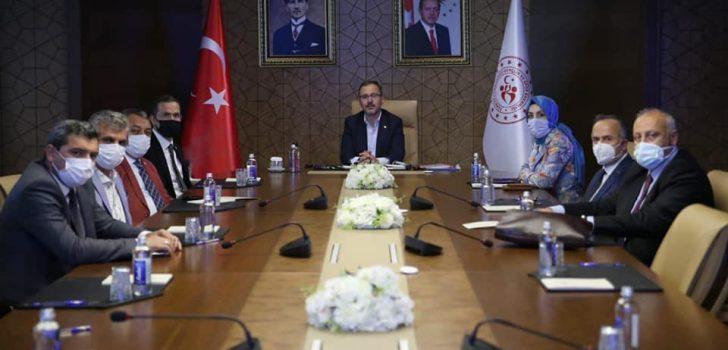 Başkan Çebi Gençlik ve Spor Bakanı Kasapoğlu ile Görüştü