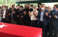 Mardin'de trafik kazasında ölen uzman çavuşun cenazesi memleketi Trabzon'da defnedildi