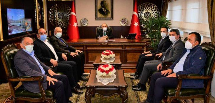 Başkan Çebi'den Trabzon Valisi Ustaoğlu'na Taziye Ziyareti